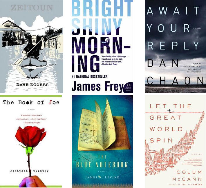 Most Memorable Books of 2009: Zeitoun, Bright Shiny Morning, Await Your Reply, Book of Joe, Blue Notebook, Let the Great World Spin
