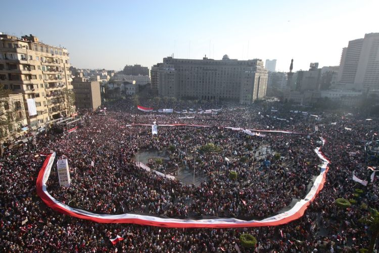 Tahrir Square on Friday, Feb. 18, 2011