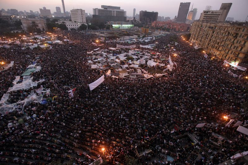 Tahrir Square Alive with People